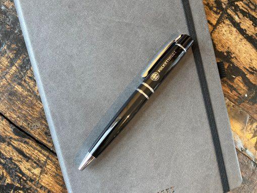Notesbog med logo